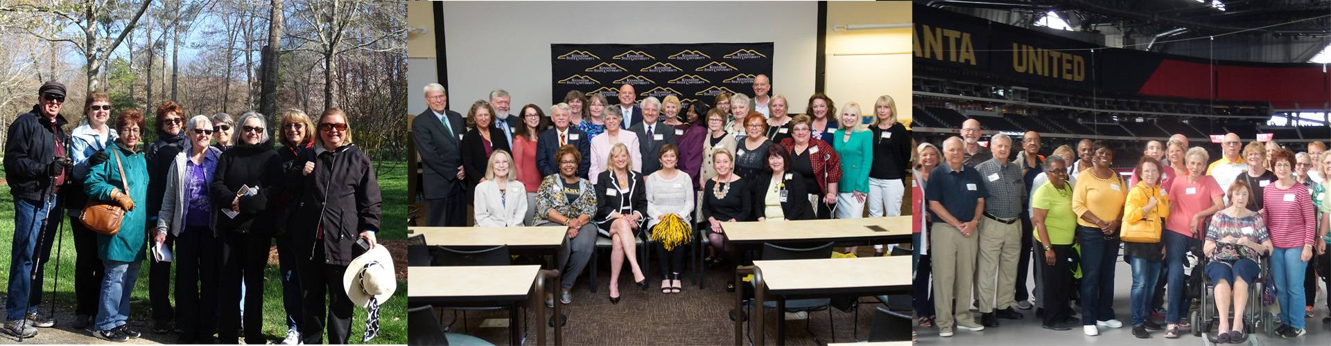 group photos of retiree events
